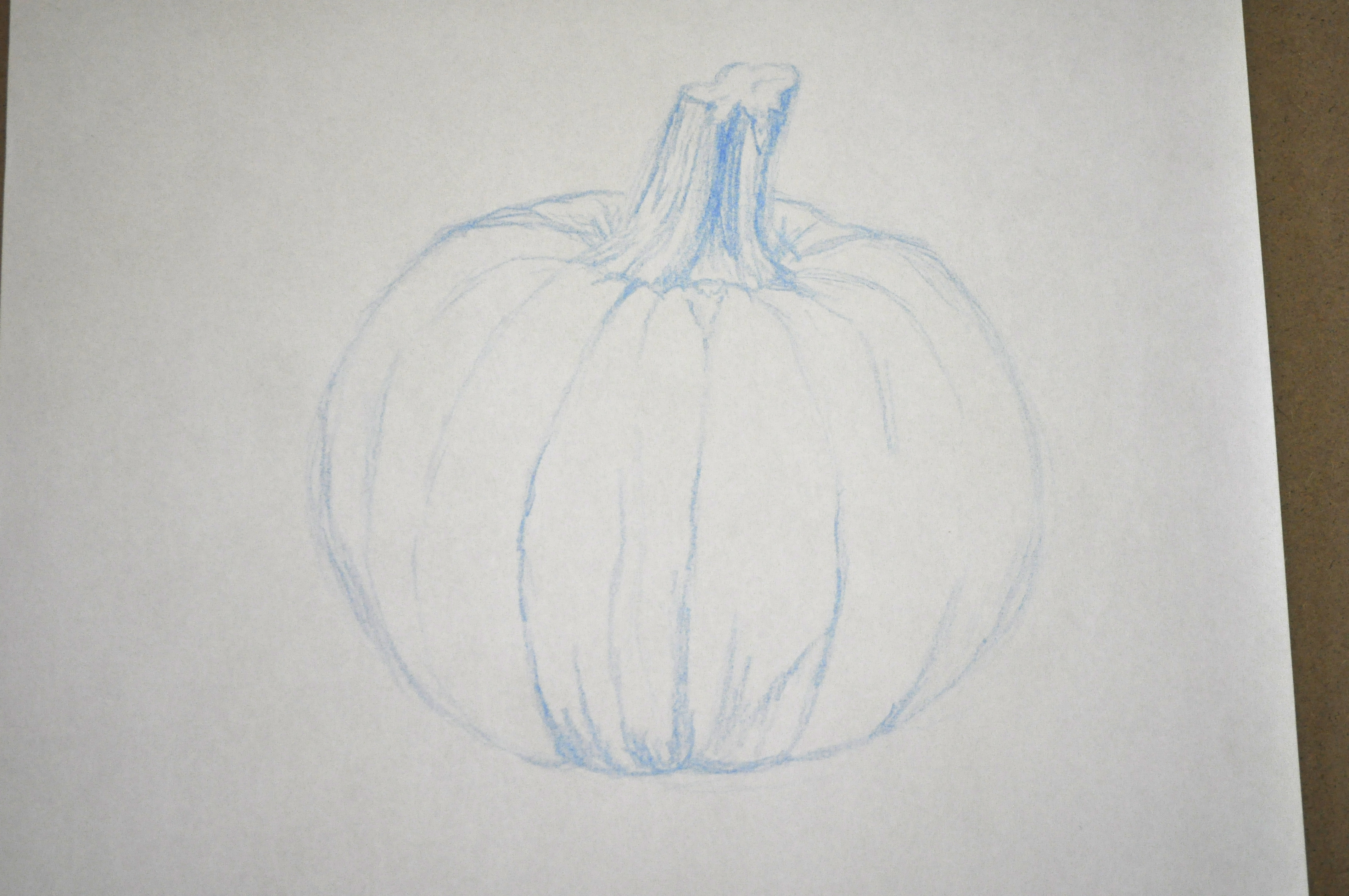pumpkin drawing with shading. here is my fully shaded pumpkin. pumpkin drawing with shading o